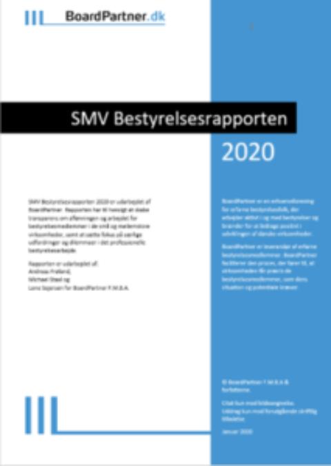 SMV Bestyrelsesrapporten 2020
